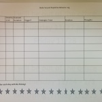 Worksheet for Children to Log and keep track of their hair pulling and skin picking behaviors. Developed by Priscilla Elliott of Austin Texas.