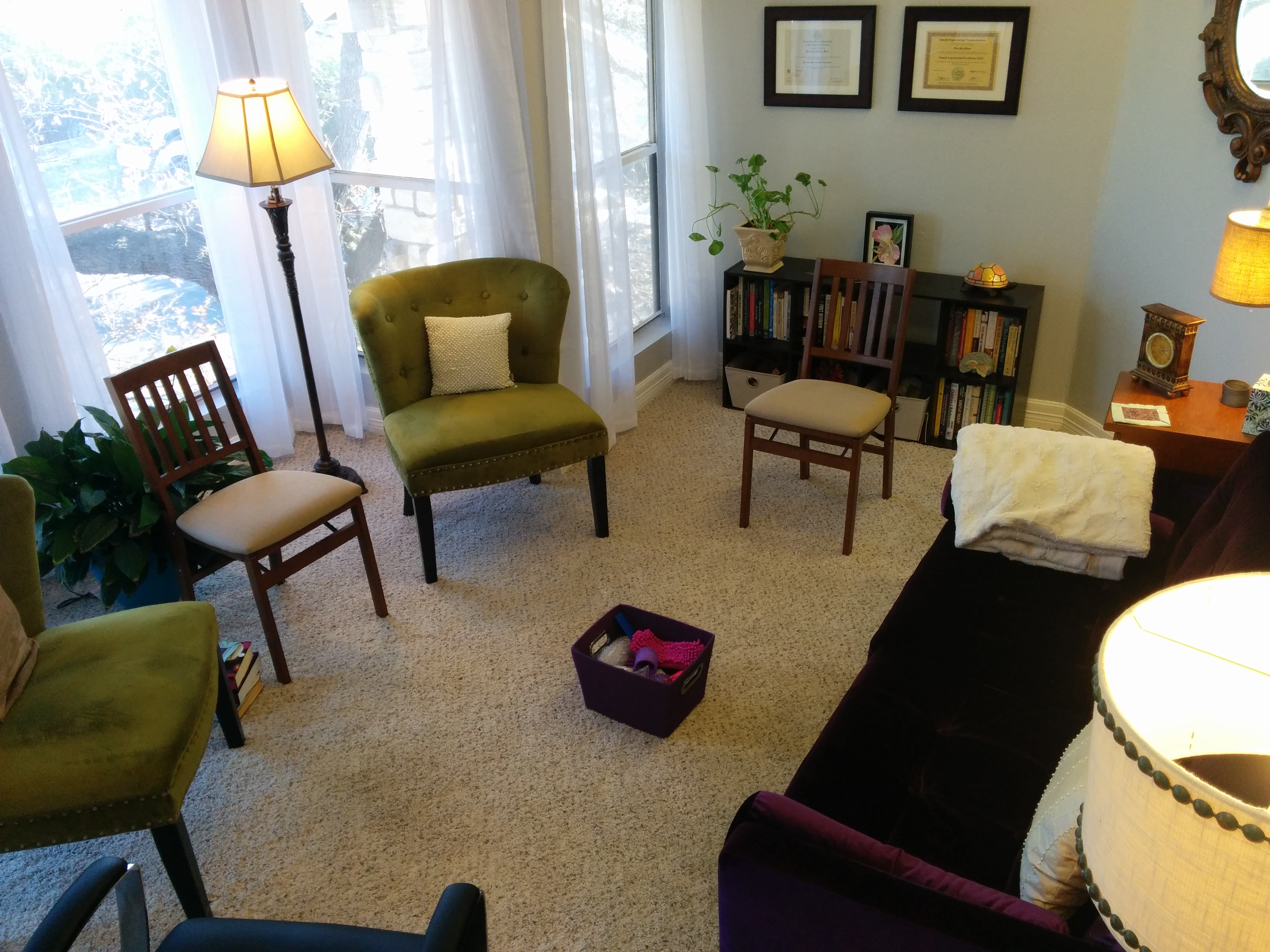 Group Room at Courage Counseling by Priscilla Elliott