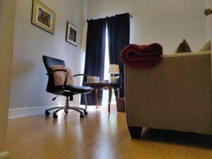 Economy office view from door
